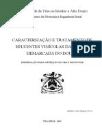 CARACTERIZAÇÃO E TRATAMENTO DE EFLUENTES VINÍCOLAS DA REGIÃO DEMARCADA DO DOURO