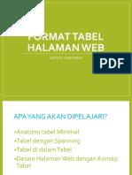 3 - Format Tabel Halaman Web