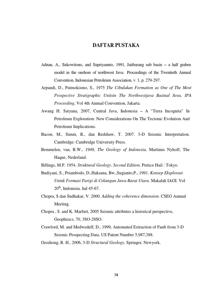 Daftar Pustaka 1 Pb Geology Earth Life Sciences