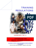 Cookery NC II – 40 Days