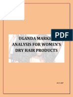 Uganda Market Analysis for Women s Dry Hair Products Merged File