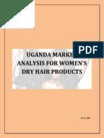 Uganda Market Analysis for Women s Dry Hair Products Merged File