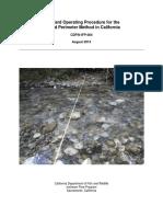 CDFW-IFP-004 Wetted Perimeter Method SOP v1-2.pdf