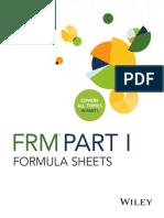 FRM Formula Sheets 2017 Part-I