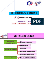 4.5 Metallic Bond