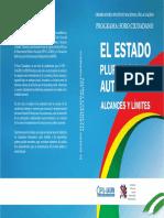 EL NUEVO Estado Plurinacional y Autonomico._alcances y Limites - Santa Cruz de La Sierra