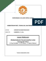 UNM KAK Pembangunan Pagar 2018 Gunungsari Timur