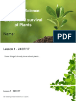 biological science - plant growth and survival