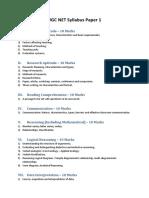 Ugc Net Syllabus Paper 1