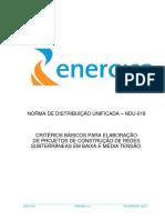 ndu018 - CRITÉRIOS BÁSICOS PARA ELABORAÇÃO DE PROJETOS DE CONSTRUÇÃO DE REDES SUBTERRÂNEAS EM BAIXA E MÉDIA TENSÃO.pdf