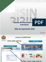 SISIN_presentacion_2018 MEyFP BOLIVIA