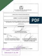 34.- 2430-003-006 Procedimiento Para La Planeación, Programación, Atención Pre-operatoria, Transoperatoria