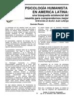 Huellas 10 4 LaPsicologiaHumanistaenAmericaLatina