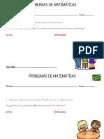 Coleccion de Problemas de Matematicas 1º Primaria Copiar