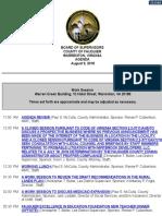 Fauquier Supervisors 8-9-2018 Agenda