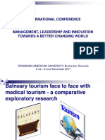 Medical tourism face to face with balneary tourism