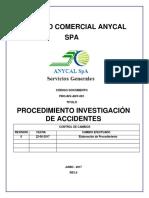 Procedimiento Investigacion de Accidentes