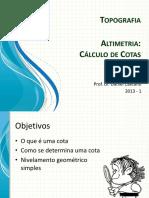 Topografia Altimetria_ Cálculo de Cotas (2)