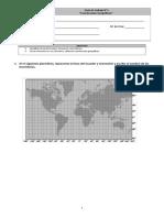 Guía de trabajo N°3 coordenadas geograficas
