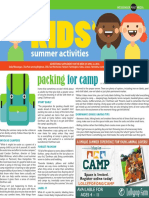 Kids Summer Activities 2018