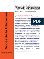 Voces de La Educacion Ano 2 Vol 1 Enero Junio 2017