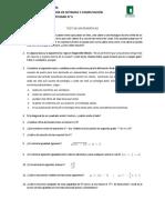 Test de matematicas