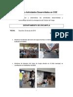 Informe Acciones Realizadas SESAN,  Deptos. Afectados Emergencias