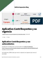 Aplicativo Contribuyentes y su vigencia-Bolivia