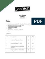 Acta Confech - 30 de Junio de 2018