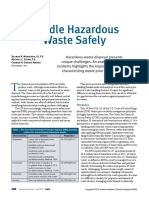 HANDLE HAZARDOUS WASTE