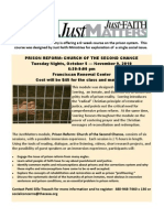 Just Faith - Prison Reform class flyer