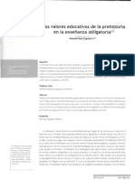 Los valores educativos de la prehistoria