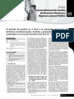 El Periodo de Prueba en El Peru - Ago 2016
