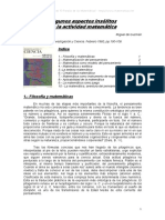 Guzman Miguel de - Algunos aspectos insolitos de la actividad matematica (Investigacion y ciencia 1983)(15s).pdf