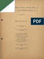 Memoria y Valance Editorial Universitaria MC0070422