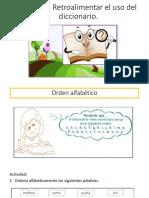 Retroalimentacion Uso Del Diccionario