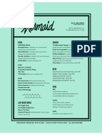 Mermaid Menu