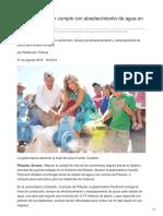 01-08-2018 Claudia Pavlovich Cumple Con Abastecimiento de Agua en Pitiquito - Tribuna