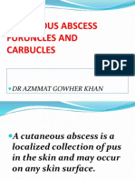 Cutaneous Abscess Furuncles and Carbucles