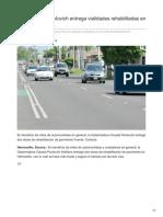 02-08-2018 Gobernadora Pavlovich Entrega Vialidades Rehabilitadas en Hermosillo - Tribuna