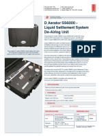 D Aerator SS6000 Liquid Settlement System de Airing Unit SSB0011B