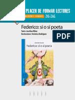Plan Lector 1º - 8º Básico Federico_ Sí o Sí Poeta Texto_ Josefina Rillon Ilustraciones_ Verónica Rodríguez