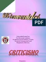 Presentación CRITICISMO