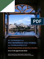Programacao XI Semana Patrimônio Cultural