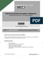 Instalaciones Solares Térmicas Predimensionado y Dimensionado Grupo Formadores Andalucía - PDF