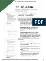 Proyectos de Investigación y Desarrollo Experimental - Manual de Uso Del DINA