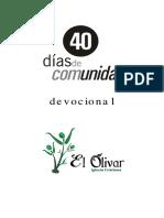 40 días de comunidad - devocionales
