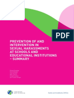 191541 Prevention of and Intervention in Sexual Harassments at Schools and Educatio
