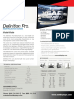 Definition Pro Optical Rear Projection Surface