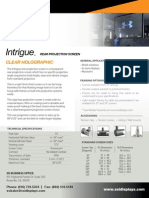 Intrigue Rigid Rear Projection Surface